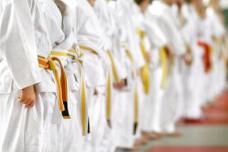 Boca Karate & kickboxing yellow belt kids